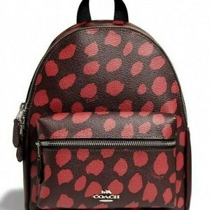 Coach Mini Charlie Backpack - Deer Spot Print